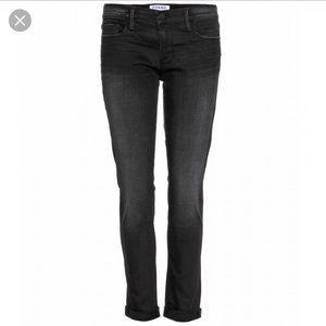 "FRAME denim ""Le Garcon"" black jeans sz 30"